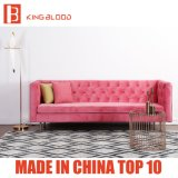 Nordische Art-Möbel durchgeheftetes gepolstertes samtartiges Baumwollgewebe-Sofa für Hotel