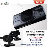 新しい到着完全なHD1080pのオートバイの二重カメラDVR