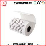 Roulis supérieur de papier thermosensible de réception de côté (55g, 58g, 60g, 65g)