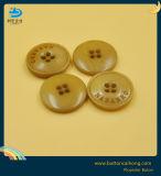 人の衣服のためのカスタムロゴのマットのエナメルの黄色ボタン