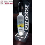 Kundenspezifische Firmenzeichen-LED geleuchtete Acrylbildschirmanzeige für Wein