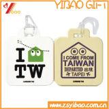Cadeau promotionnel en PVC souple des étiquettes de bagages avec logo