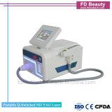 Bewegliches 1064nm 532nm 2000mj Nd: YAG Q-Switched Laser-Salon-Schönheits-Maschine