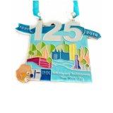 Sleutelkoorden 60mm van de Sport van het Email van de douane 3D Zachte de Ronde Medaille van de Vorm (yb-hd-97)