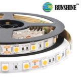 Striscia flessibile dell'indicatore luminoso di SMD 5050 LED in 60LEDs 14.4W/M
