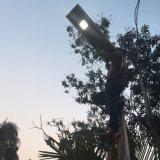 Простая установка 30W все в одном интегрированном солнечной уличных фонарей