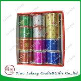 China Tecido acetinado grosso Fancy pacote de presentes de Natal com fita cintilantes em pó