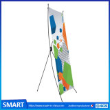 Customeのサイズ60*160 80*180cmの広告の表示プリントポスター調節可能なX立場の旗
