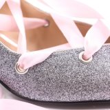 Sueño de encaje rosa niña zapatos con Glitter Upper