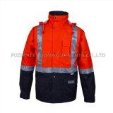 Men's Hi Viz Workwear Orange de sécurité réfléchissant Veste d'hiver