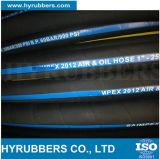 Hochdruckgewebe-umsponnener schwarzer Öl-Gummischlauch
