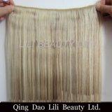 2017 горячий продавая сразу зажим Remy концов 100 фабрики подгонянный оптовой продажей двойной нарисованный толщиной в выдвижении волос