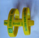 Silk Screen Printed Logo Silicone Wristband para atividade de anúncios