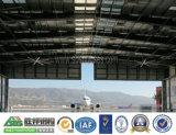 Hangar de los aviones de la estructura de acero