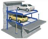 Sub-Level простой системы парковки Автомобильный подъемник с 2 Pit платформ для 4 автомобилей