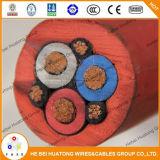Isolation en caoutchouc et câble de extraction engainé en caoutchouc de Fleixble d'usage