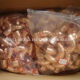 Acessórios de cotovelo de cobre para água e gás