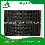 Chine Fournisseur PVC Revêtement 100-100 Kn / M Warp Tricot Polyester Pet Geogrid pour Roadbed