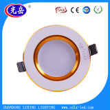 Luz de techo de oro del estilo 3W LED Downlight/LED con estilo de la manera