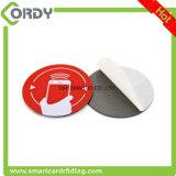 NFC 칩 NTAG213 NTAG215를 가진 공백 PVC RFID 디스크 꼬리표