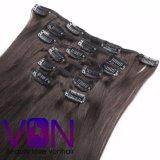 Grande Venda 100% brasileira a presilha de cabelo na extensão natural do cabelo humano