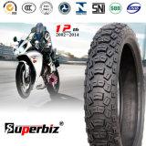 Moto en caoutchouc des pneus tubeless (110/100-18) pour terrain dur