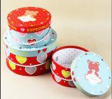 Ronda Popular Caja de regalo con mango / cuadros de sombrero de anidamiento de ronda
