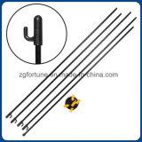 Aluminiumfahnen-Standplatz a (schwarz-gelbe Farbe) pole-Korea X