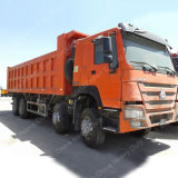 Camion à benne basculante personnalisable de tonnage de Sinotruk 8*4 HOWO 12-Wheel