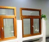 Het houten Beklede Openslaand raam van de Sjerp van het Aluminium Dubbele