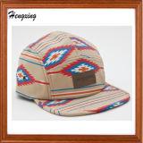 100%年の綿5つのパネルの平らな縁の急な回復の帽子