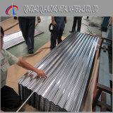 Panneau ridé de toiture de Sheet/Gi enduit par zinc/feuille en acier galvanisée de toiture