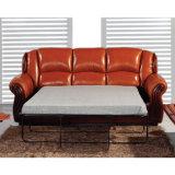 أثر قديم [ركلينر] أريكة مع ترحيب خشبيّة [مز001]