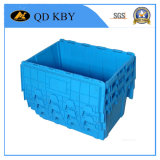Caixa de recipiente de logística de rotação de plástico empilhável