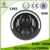 Luz del coche del CREE LED del poder más elevado H/L para Harley y el jeep 50W