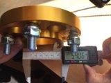Adaptador de aluminio de los espaciadores de la rueda con el borde de rueda para el coche