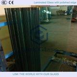 Verre trempé trempé en forme spéciale en verre trempé de 3 à 10 mm avec bord poli pour appareils