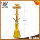 Gelbe Shisha silberne klassische Tabak-Holzkohle-Rauch-Zigaretten-Huka-Glaswasser-Rohr-Glaspfeife mini elektronisches Cigarett E-Zigarette Vaporizer-Wasser