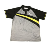 T-shirt gris de chemise de golf de chemise de polo avec la bonne qualité