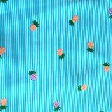 Alimentação de fábrica Rayon Poplin tecido impresso para meninas vestir