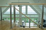 Sistema de la curva de Acero Inoxidable pasamanos para escaleras