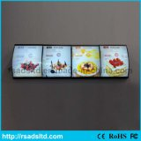 Алюминиевая афиша светлой коробки меню СИД для Restauran