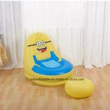 Sofa paresseux d'air gonflable d'intérieur de PVC avec le dessin animé