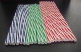 Hohe Leistungsfähigkeits-Doppelt-Farben-Getränk-Stroh-Strangpresßling-Produktionszweig
