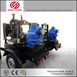 bomba de água do motor 110kw Diesel para a irrigação/drenagem da inundação com reboque