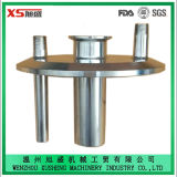6 Deksel van het Roestvrij staal van de duim Ss304 het Sanitaire TriKlaver Aangepaste