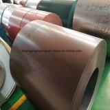 Anti-dedo PPGI acero color bobina de fábrica