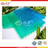 4mm grünes Doppelwand-Höhlung PC Polycarbonat-Blatt für Dach-Markise