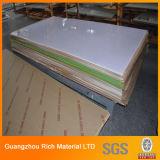 3mm a folha de acrílico plástico leitosa branca a PMMA Plexiglass Perspex exemplar para publicidade