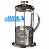 Kaffeemaschine-Glasware-Franzose-Presse eingestellt mit Potenziometer und Cup